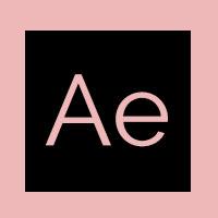 Pink After effect logo