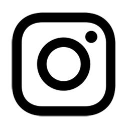 Instagram logo in black.