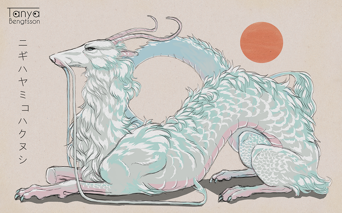A redesign of the character Haku from the movie Spirited Away.